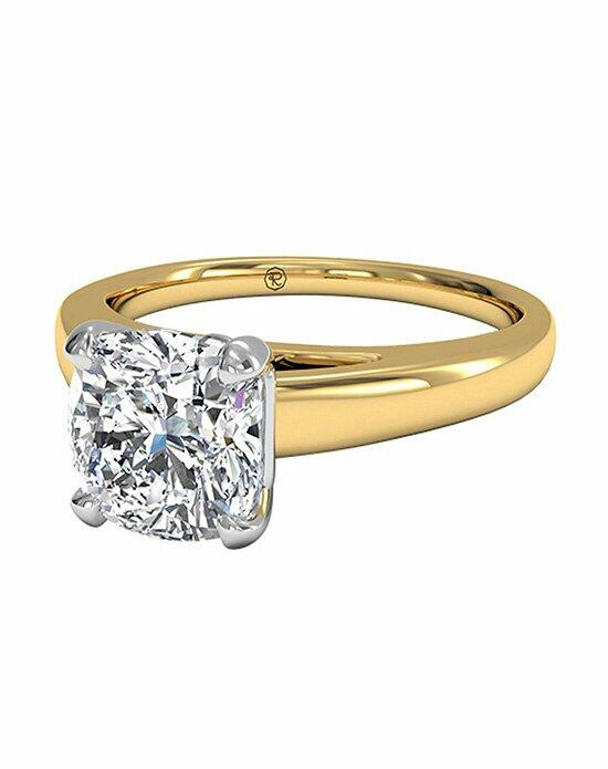 Ritani Cushion Cut Solitaire Diamond Cathedral Engagement Ring in 18kt Yellow Gold Engagement Ring photo
