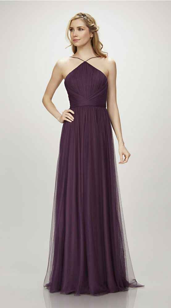 purple bridesmaid dress by Theia