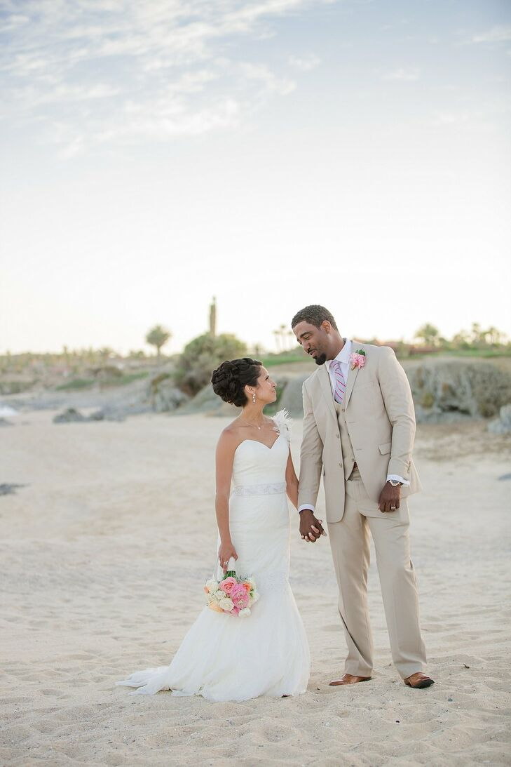 A Romantic Beach Wedding At Cabo Del Sol Golf Club In San Lucas Mexico