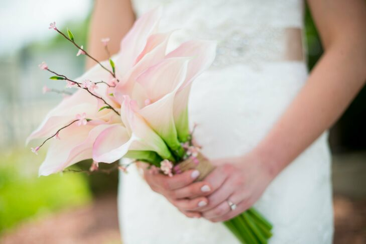Blush Calla Lily Bridal Bouquet