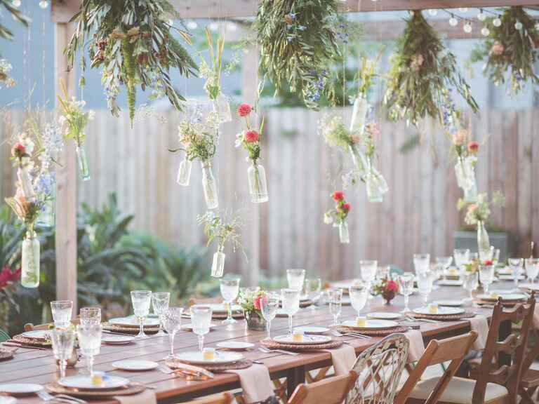 Couple's outdoor bridal shower