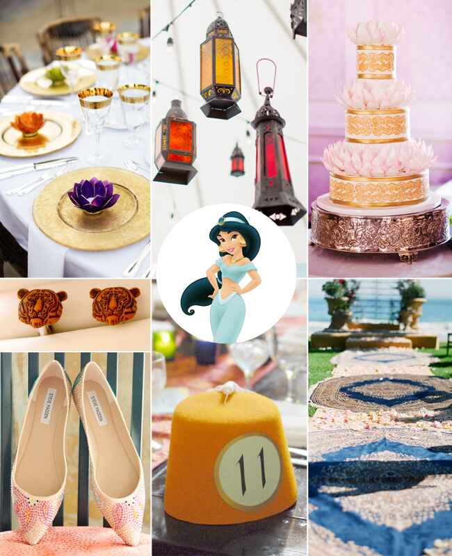 Jasmine: What Your Favorite Disney Princess Says About Your Wedding Style / TheKnot.com