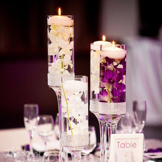 Wedding Reception Centerpieces Candles: Candle Centerpieces