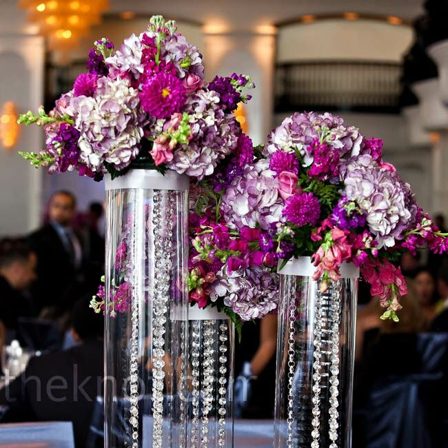 Hanging Crystal Centerpieces