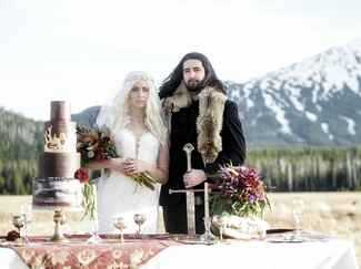 Game of Thrones–inspired wedding photo