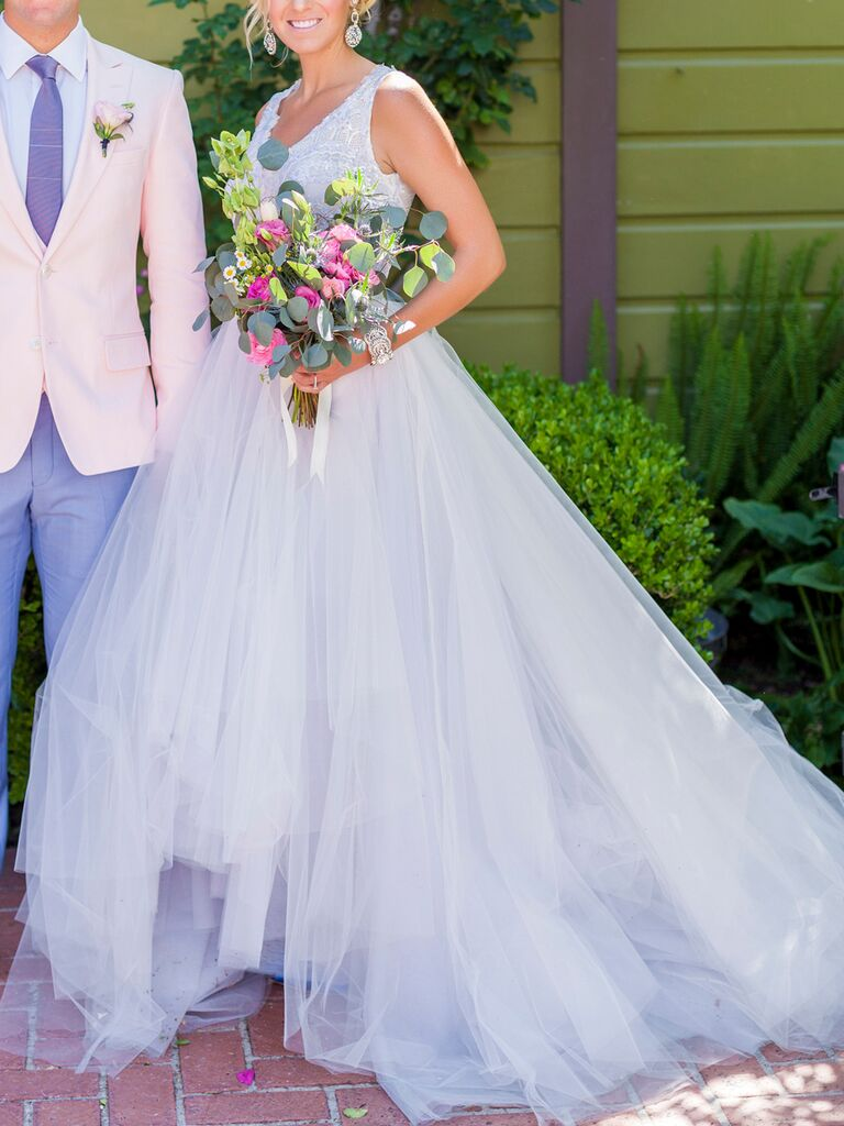 20 dreamy blue wedding gowns light blue a line wedding gown by lazaro junglespirit Choice Image
