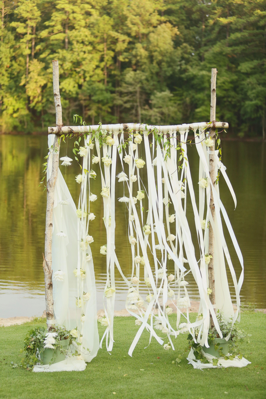 Whimsical Birch Wedding Arch