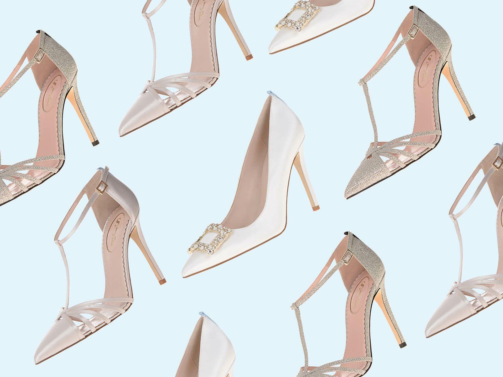 bridal shoes  sjp collection at kleinfeld bridal