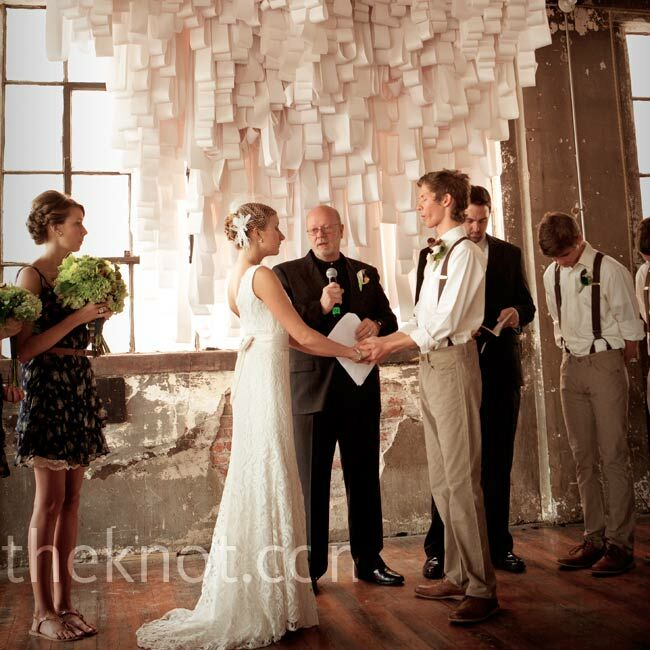 Wedding Party At The Altar: The Arts Incubator Wedding Ceremony