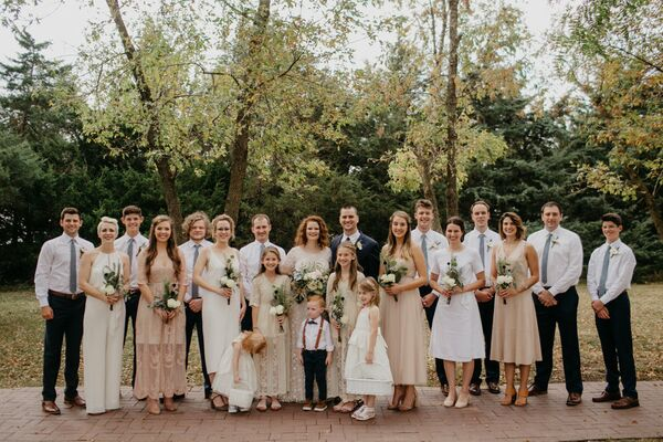Mismatched Nude, Ivory and Blush Bridesmaid Dresses