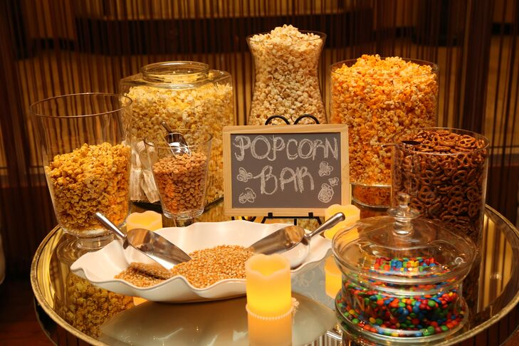Popcorn Favor Bar At Reception