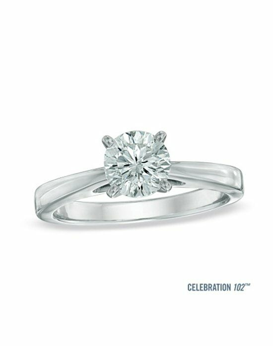 Celebration Diamond Collection at Zales Celebration 102® 1 CT. Diamond Solitaire Engagement Ring in 18K White Gold (I/SI2)  20006683 Engagement Ring photo