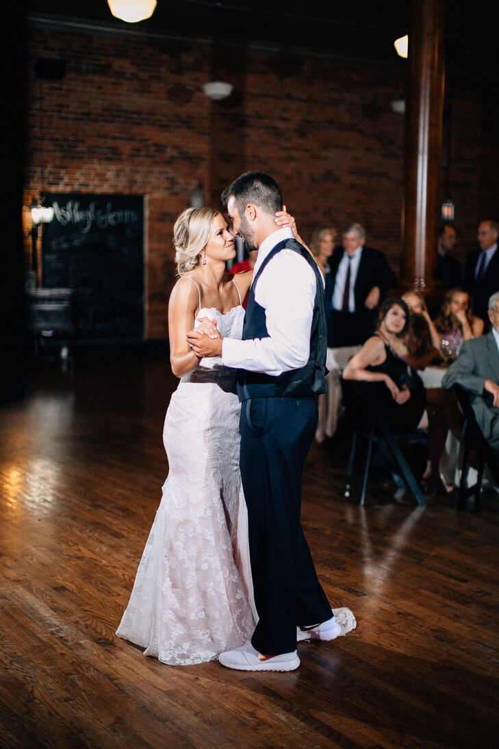 "Ashley and Jonny's first dance was to Kip Moore's ""Lead Me,"" one of the groom's favorite artists."