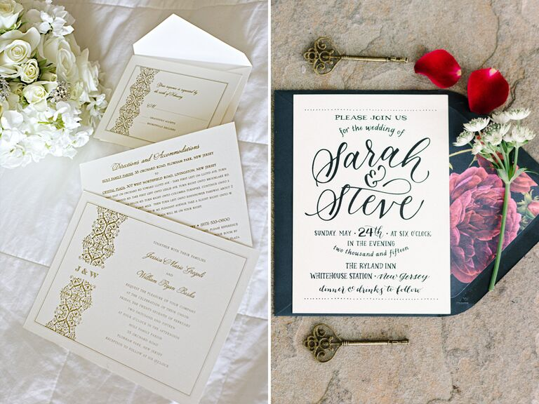 Wedding invitation trends with calligraphy