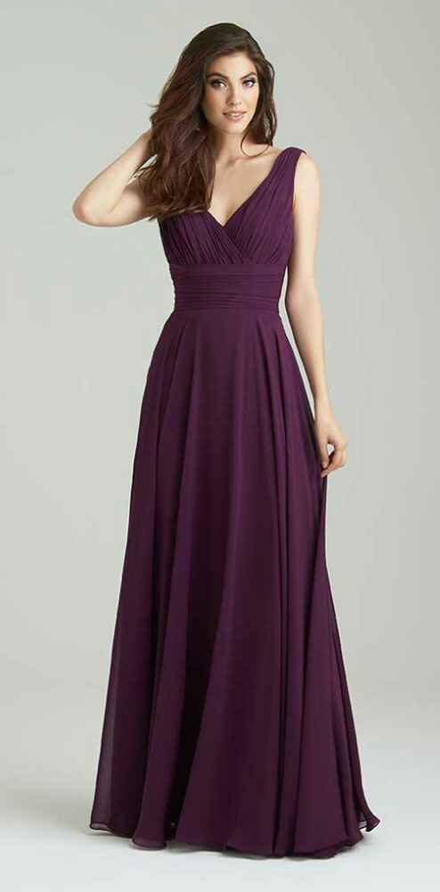 purple bridesmaid dress by Allure
