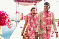 Nonstop entertainment was the theme for Melanie Kannokada (29 and an actress) and Neeraj Chandra's (33 and an investor) opulent wedding at Amanyara in