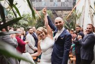 "Andrea	Ryken and Travis Barnes tied the knot at Grass Room in Los Angeles—the newest wedding venue from Marvimon Productions. ""As soon as we saw the i"