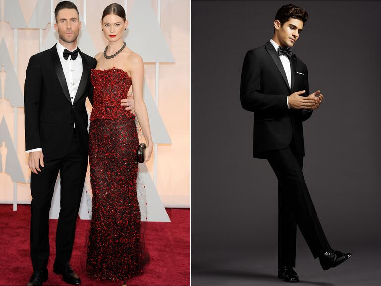 Adam Levine and wife Behati Prinsloo at the Grammy Awards