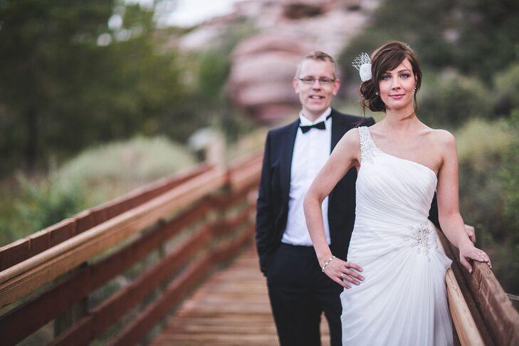 Formal Bride And Groom At Las Vegas Elopement
