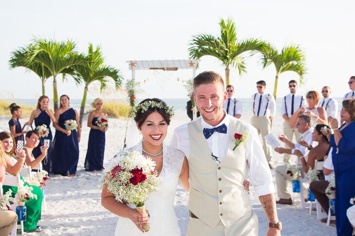 A Casual Beach Wedding At Grand Plaza Beachfront Hotel In St Pete Florida