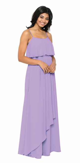 purple bridesmaid dress by Watters
