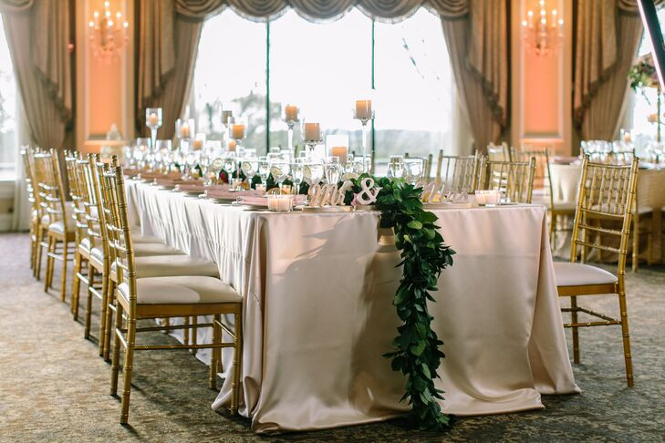 Garland Head Table Wedding Decor