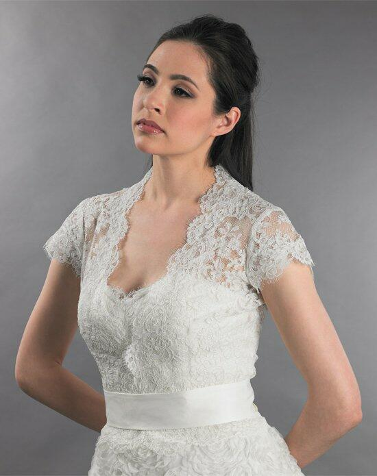 Tulip Bridal Cap Sleeve Front Open Lace Wedding Jacket-WJ001 Wedding Jackets photo