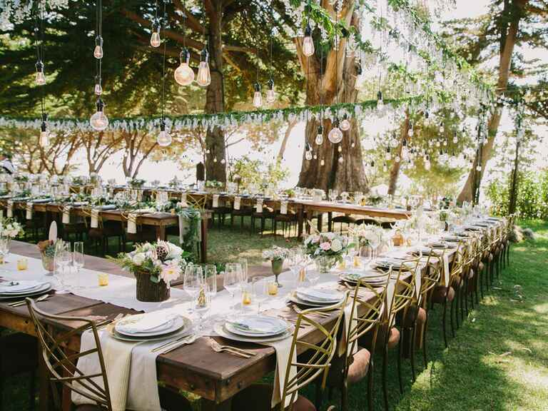 Beautiful wedding tablescape