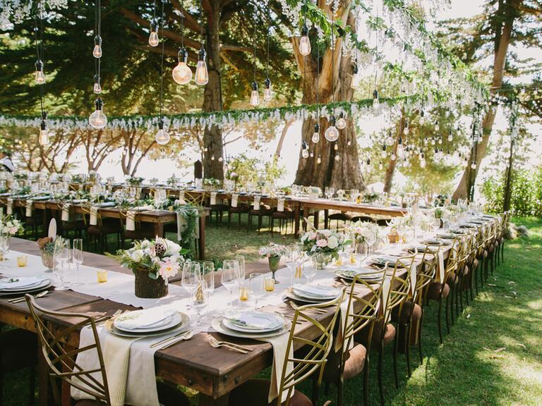 Beautiful wedding tablescape