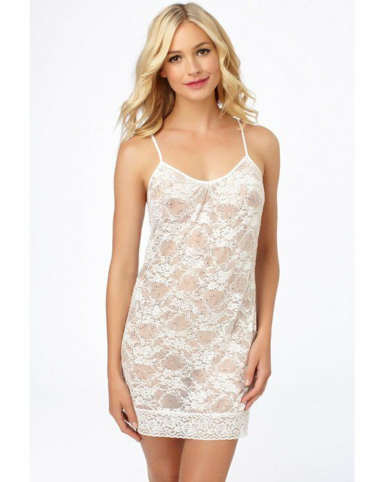 Blue by Betsey Johnson Sequin Lace Chemise Wedding Accessory photo