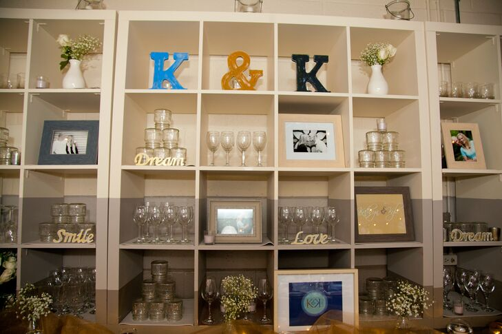 Homey and Eclectic Reception Decor