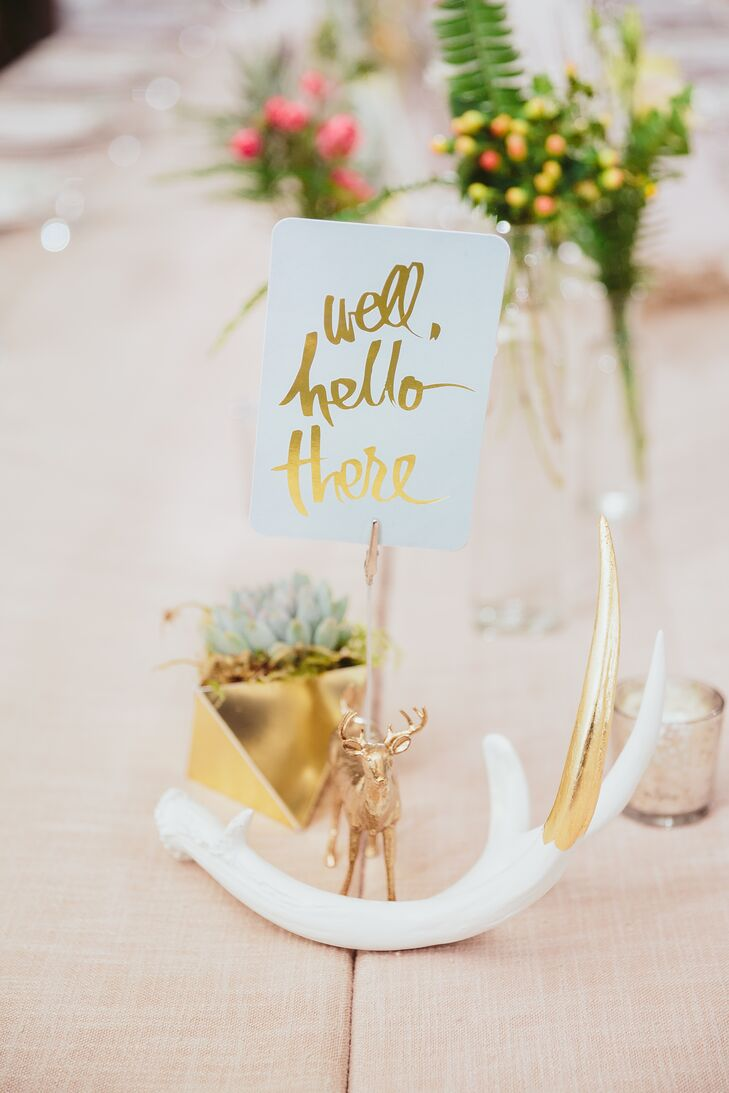 Gold and White Modern Decorations