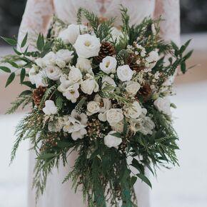 Emerald green wedding flower arrangements white winter wedding bouquet mightylinksfo