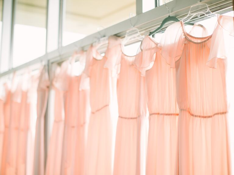 Pink bridesmaids dresses