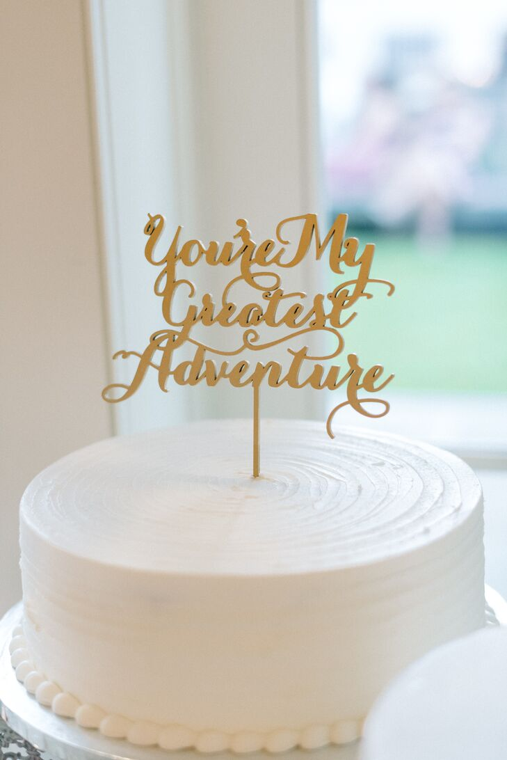 gold h wedding cake topper a vintage in inspired wedding at 14786