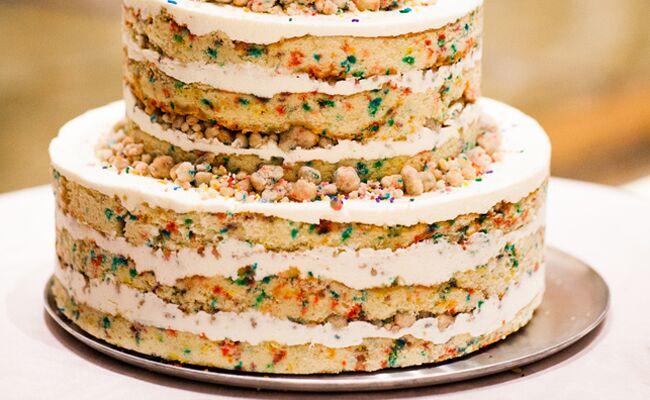 A Funfetti Wedding Cake Yes Please