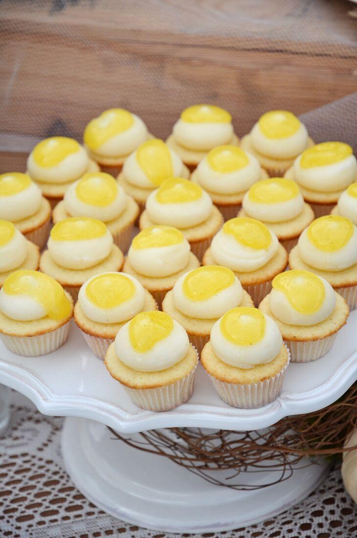 Yellow and White Mini Cupcakes