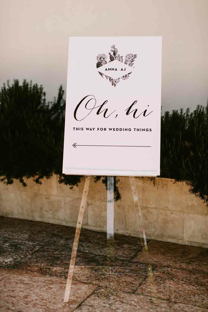 San Francisco's Jack & Ginger Studios crafted all the signs for the wedding day.