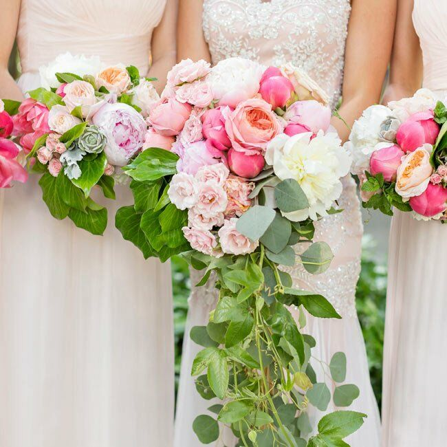 Cascading Pink And White Bouquet