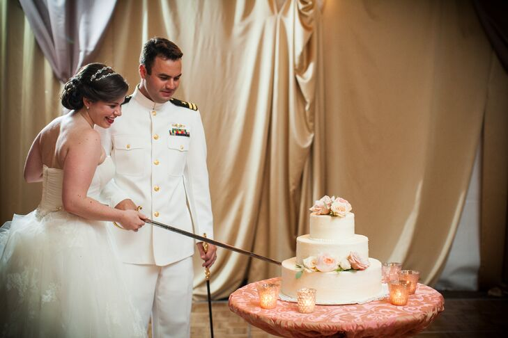tradition behind cutting the wedding cake a vintage inspired wedding at united states naval 21219
