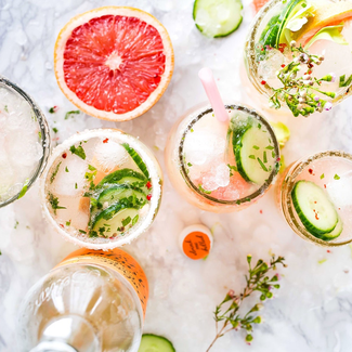 grapefruit cocktails bridal shower ideas