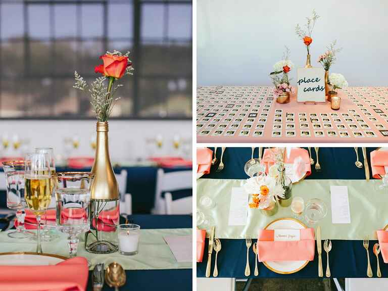 Peach and blue Indian wedding