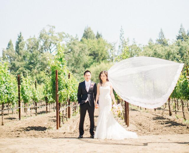 A Romantic Garden Wedding At The Vintage Estate In Yountville California