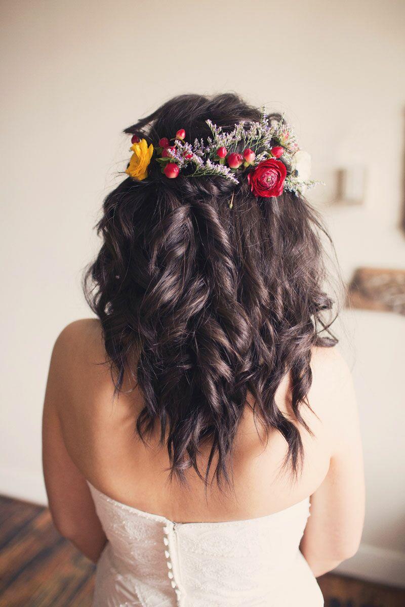 Flower crown wedding hairstyles for brides and flower girls izmirmasajfo