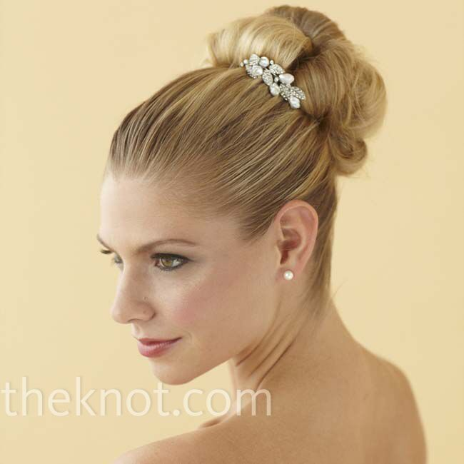 Woven Bun wedding hairstyle