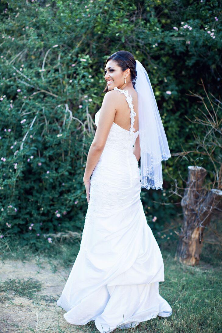 Elegant one shoulder wedding dress in phoenix arizona for Wedding dresses in phoenix az
