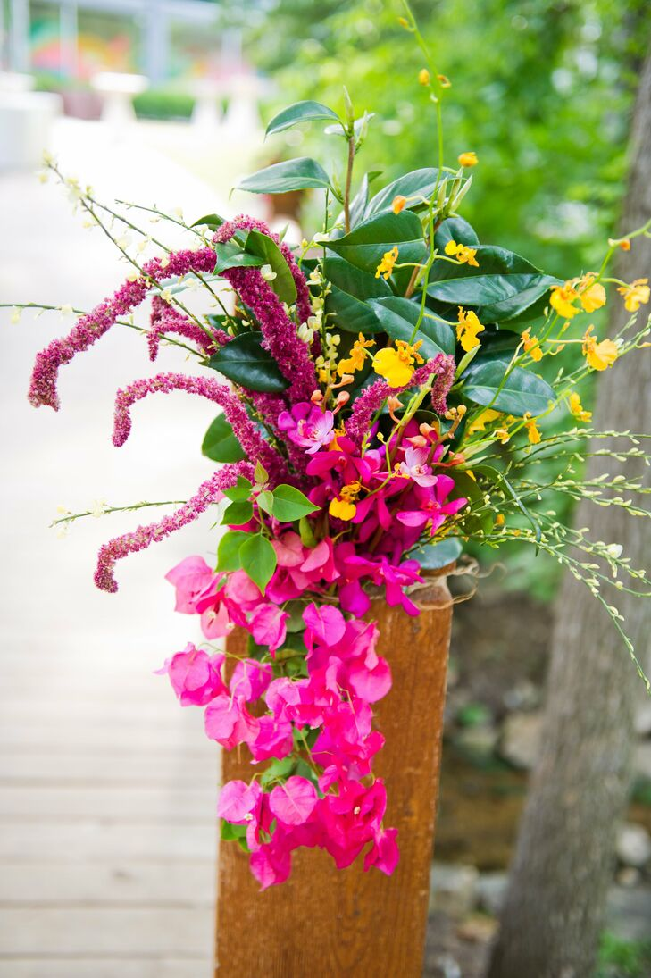Hot Pink And Yellow Wedding Flowers