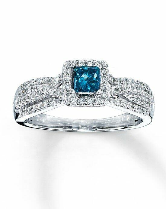 Artistry Diamonds 10kw 1/2cttw White and enhanced blue diamond ring Engagement Ring photo