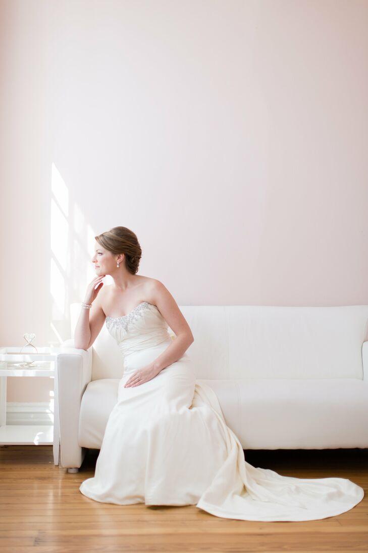 Bride in a church street bridal wedding dress for Wedding dresses lynchburg va