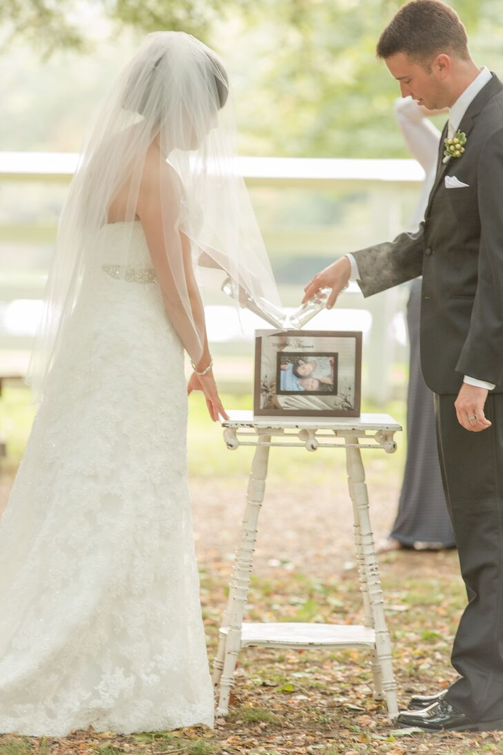 Sand Picture Frame Unity Wedding Ceremony